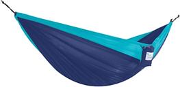 Patio Double Parachute Hammock, Navy/Turquoise