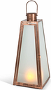 "Outdoor 20.88"" Brushed Copper Lantern, Copper"