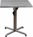 Square Square Aluminum Table, Gray