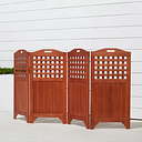 Vifah Malibu Outdoor Wood Privacy Screen, Brown