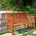 Vifah Malibu Outdoor 4ft Wood Garden Bench, Brown