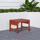 Vifah Malibu Outdoor Backless Garden Stool, Brown