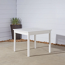 Vifah Bradley Outdoor Stacking Table, White