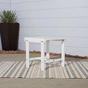Vifah Bradley Outdoor Wood Side Table, White