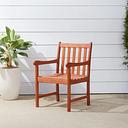 Vifah Malibu Outdoor Garden Armchair, Brown