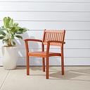 Vifah Malibu Outdoor Garden Stacking Armchair (Set of 2), Brown