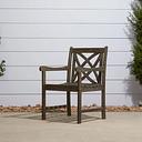 Vifah Renaissance Outdoor Hand-scraped Wood Garden Armchair, Gray