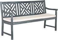 Safavieh Bradbury 3 Seat Bench, Gray/Beige