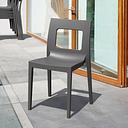 Siesta Outdoor Lucca Dining Chair Dark Gray (Set of 2), Dark Gray
