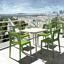 Siesta Outdoor Lucca Dining Chair Tropical Green (Set of 2), Tropical Green