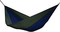 Patio Double Parachute Hammock, Navy/Olive