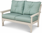 POLYWOOD Emerson All Weather Deep Seating Settee, Spa
