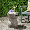Reganne Concrete Accent Table, Dark Gray