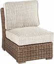 Beachcroft Armless Chair with Cushion, Beige