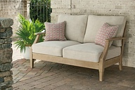 Clare View Loveseat with Cushion, Beige