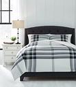 Stayner 3-Piece King Comforter Set, Black/Gray