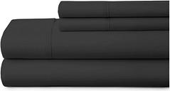 4 Piece Premium Ultra Soft Full Bed Sheet Set, Black