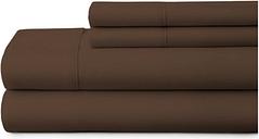 4 Piece Premium Ultra Soft King Bed Sheet Set, Chocolate