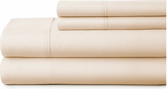 4 Piece Premium Ultra Soft King Bed Sheet Set, Ivory