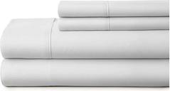 4 Piece Premium Ultra Soft King Bed Sheet Set, Light Gray