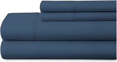 3 Piece Premium Ultra Soft Twin Sheet Set, Navy