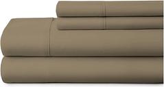 4 Piece Premium Ultra Soft King Bed Sheet Set, Taupe