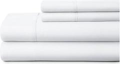 4 Piece Premium Ultra Soft Queen Bed Sheet Set, White