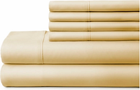 6 Piece Luxury Ultra Soft King Bed Sheet Set, Gold