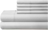 3 Piece Luxury Ultra Soft Twin Sheet Set, Light Gray