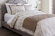 Paisley Runner Bedding Accessory, Taupe