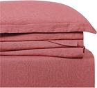 Linen Brooklyn Loom California King Sheet Set, Dusty Rose