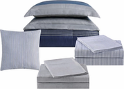 Striped 212 Carlyle Full Bed in a Bag, Blue