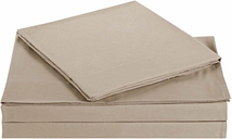 Microfiber Truly Soft Queen Sheet Set, Khaki