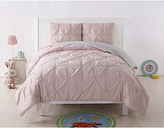 2 Piece Twin XL Comforter Set, Blush/Gray