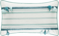 Striped Boudoir Throw Pillow, Forest