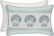 Sea Shell Boudoir Throw Pillow, Aqua