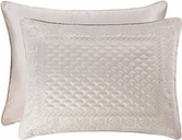 Quilted Standard Euro Sham, Silver