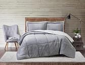 Velvet 2-Piece Twin XL Comforter Set, Gray