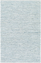 Hand Crafted 6' x 9' Area Rug, Teal/Gray