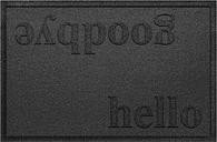 Home Accent Aqua Shield Hello/Goodbye 2' x 3' Doormat, Charcoal