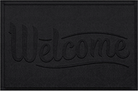 Home Accent Aqua Shield Simple Welcome 2' x 3' Doormat, Charcoal