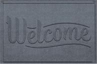 Home Accent Aqua Shield Simple Welcome 2' x 3' Doormat, Bluestone