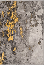"Over Dye 5'1"" x 7'6"" Area Rug, Gray/Yellow"