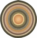 Reversible 8' x 8' Round Rug, Beige/Brown