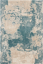 """Accessory Maxell Ivory/Teal 3'10"""" x 5'10"""" Area Rug, Teal/Ivory"""