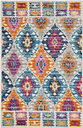 "Accessory Passion Multicolor 1'10"" x 2'10"" Accent Rug, Teal"