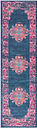 """Accessory Passion Blue 1'10"""" x 6'Runner, Teal/Fuchsia"""
