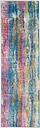 "Accessory Passion Grey/Multi 1'10"" x 6'Runner, Teal/Ivory"