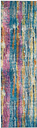 """Accessory Passion Grey/Multi 1'10"""" x 6'Runner, Teal/Ivory"""