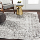 "Machine Woven Monte Carlo 6'7"" x 9' Area Rug, Ash Gray"